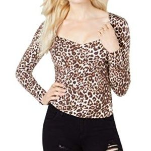 Guess Freedia Ruched Long-Sleeve Spotted Bengal